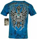 XTREME COUTURE by AFFLICTION Men T-Shirt WANTED MAN Wing Biker MMA Gym S-3X $40 image