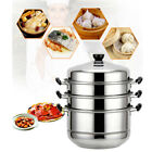 New Stainless Steel 4 Tier Steamer Steam Pot Cookware Avail in 3 Sizes US