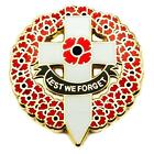 NEW RED POPPY LAPEL PIN ENAMEL BADGE BROOCH GOLD CROSS SOLDIER BRITISH ARMY 2018