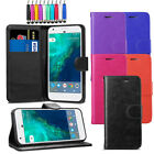For Google Pixel 2 XL - Leather Flip Wallet Case Stand Cover + Screen + Stylus