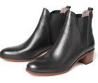 H By Hudson Black Compound Women's Ankle Chelsea Slip On Boots 4 37