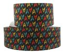 "Star Trek Original Series Logos 1"" Wide Repeat Ribbon Sold in Yard Lots"