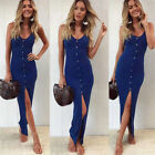 USA Women Sexy Summer Boho Long Maxi Evening Cocktail Party Beach Dress Sundress