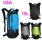 US 4 Colors 15L Boys Girls Hydration Backpack Sports Bicycle Hiking Bag Pack