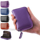 Genuine Leather Credit Card Case Wallet for Men or Women Safe Card Blocking image