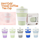 350ML Collapsible Silicone Coffee Cup Mug Reusable Travel Foldable Leak Proof