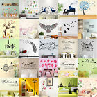 Family Vinyl Quote DIY Flower Wall Sticker Removable Decal Mural Home Art Decor