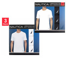 Nautica Men's Stretch Crew Tee 3 Pack Select Color & Size