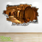 Wine Cellar Wall Sticker 3d Look - Bedroom Lounge Wine Beer Wall Decal Z559 photo