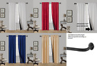 SALE 2 Pc Blackout Insulated Room Darkening Rod Pocket Panel Window Curtain TOM