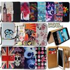 Leather Wallet Card Stand Flip Case Cover For Various Alcatel SmartPhones