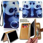 Leather Wallet Card Stand Flip Case Cover For Various HTC SmartPhones