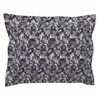 Gingezel Fabric Purple And Gray Purple And Black Purple Pillow Sham by Roostery
