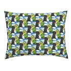 Bernese Mountain Dog Yellow House Storybook Clouds Grass Pillow Sham by Roostery