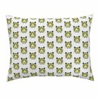Tiger Stripes Triangle Zoo Cat Orange Tara Put Pillow Sham by Roostery