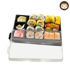 Takeaway Disposable Sushi Food Tray / Container Box With Lid - Variety Of Packs