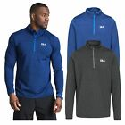 DLX Wilks Mens DLX 1/2 Zip Neck Long Sleeved Top Antibacterial Hiking Shirt