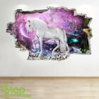 Unicorn Wall Sticker 3d Look - Boys Girls Bedroom Enchanted Wall Decal Z672
