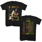 Stevie Ray Vaughan And Double Trouble Live Alive Tour Dates 86 Adult T Shirt
