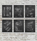 Skateboard art for boys room decor set of 6 unframed skateboard patent prints
