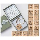 Best Man thank you gift personalised burlap key ring Usher Father Bride Groom