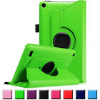 Rotate Leather Folio Stand Case Cover For Amazon Alexa Fire 7, Fire HD8 2017 UK