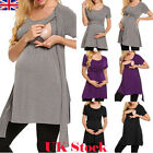 UK Pregnant Women Clothes Maternity Nursing Breastfeeding Top T-Shirt Blouse New