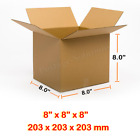 8x8x8 Inches Single Wall Brown Corrugated Cardboard Postal Mailing Boxes Cheap