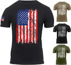 Mens US Flag Athletic T-Shirt Muscle Build Tactical Tee American Patriotic USA image