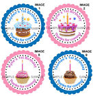 Personalised 1st Birthday stickers For Sweet Cones etc, 3 Sizes - Ref 07 - 09A