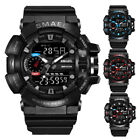 SMAEL Military Men 3D Big Dial Waterproof Rubber Sport Analog LED Digital Watch image