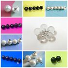 12 Pearl Bead Round / Half Ball Dome Wire Loop Wedding Dress Sewing Buttons