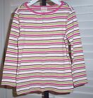 Gymboree Outlet Girl's Shirt Fall For Monkeys Size 3 Striped Long Sleeve New