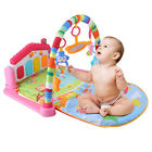 3 in 1 Fitness Baby Gym Play Mat Lay Play Music And Lights Fun Piano Green UK