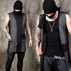 NewStylish Mens Fashion Outer Outwear Top Diagonal Zip-up Turtle Neck Vest