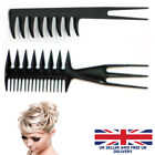 Pro Salon Double/Half Side Tooth Combs Barber Hair Dyeing Cutting Fish Shape New