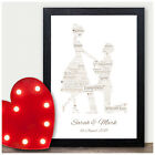Engagement Gifts Word Art Print Engagement Personalised Bended Knee Gifts