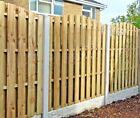 Wooden Fence Panels - Hit and Miss / Wind Proof / Double Sided