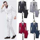 Внешний вид - Men Slim Fit Business One Button Formal Two-Piece Suit for Groom Wedding Noted