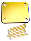 Engraved Gold Chrome Guitar Neck Plate With One Rubber mat and screws AA142