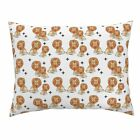 Lion Tiger Cat Meow Circus Safari Zoo Pillow Sham by Roostery