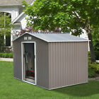 Metal Outdoor Storage Shed Garden Buiding Kit Steel Tool Utility House 3 Sizes