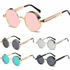 Vintage Retro Steampunk Sunglasses Inspired Gothic Metal Round Circle Glasses