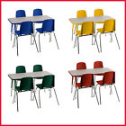 """ECR4Kids Combo-One 24"""" Rectangular Table and Four 14"""" Chair"""
