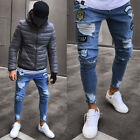 Kyпить USASTOCK Men Stretchy Ripped Skinny Jeans Destroyed Jeans Slim Fit Denim Pant u3 на еВаy.соm