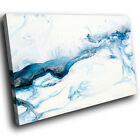 AB1744 blue paint white swirl New Abstract Canvas Art Picture Prints