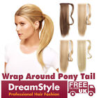 18 INCH Clip In Ponytail Hair Extensions Wrap Around PonyTail Hair Pieces