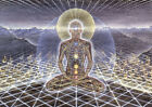 Print Art POSTER / CANVAS THEOLOGUE Trippy Alex Grey Abstract Silk Fabric