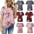 affordable plus size clothes - Women's Flower Casual Tops Shirt Loose Fashion Blouse Clothes Plus Size T-Shirt