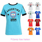 CLEARANCE NEW WOMENS ENGLAND ITALY BRAZIL WORLD CUP FOOTBALL SOCCER T-SHIRT TOP